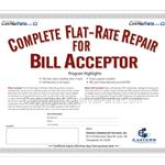 Flat-Rate Bill Acceptor Repair